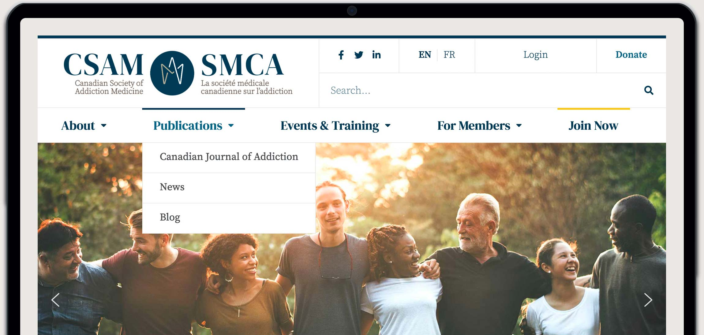 CSAM-SMCA Homepage Mock-up