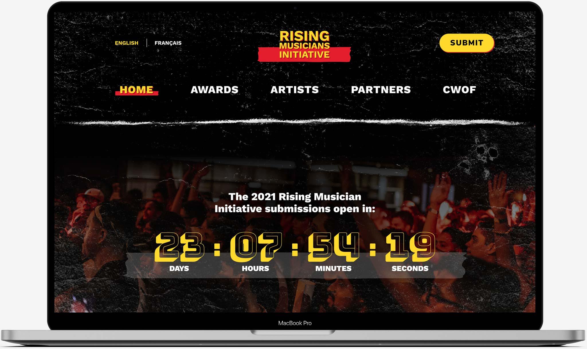 RMI homepage screen